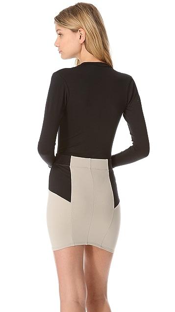 David Lerner Long Sleeve Zip Bodysuit
