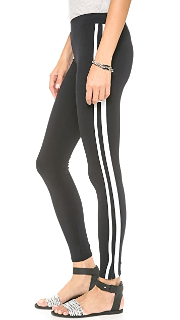 David Lerner Double Tape Tuxedo Leggings