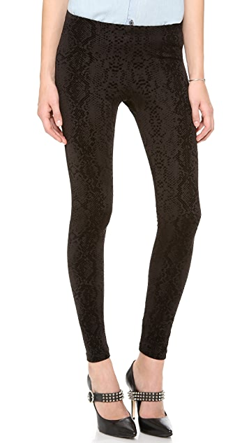 David Lerner Velvet Snake Flocked Leggings