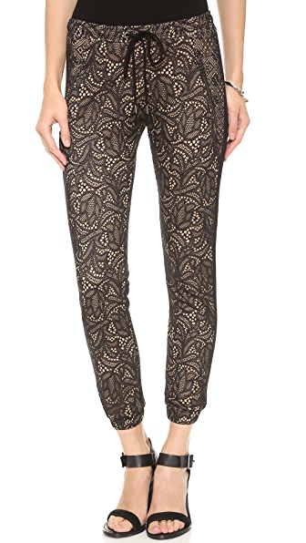 David Lerner Lace Track Pants