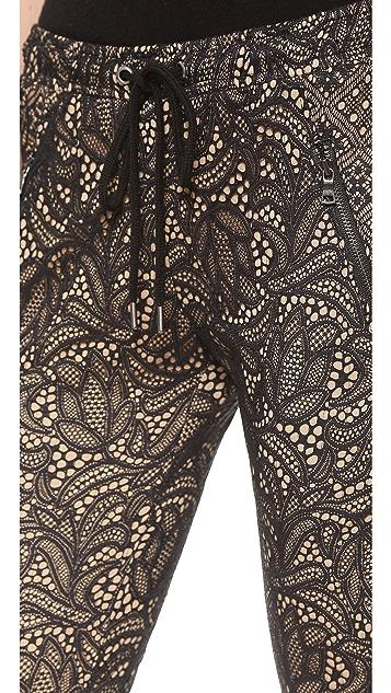 David Lerner Lace Track Pants
