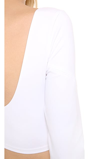 David Lerner White Crop Top