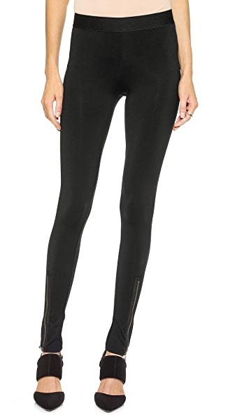 David Lerner Hudson Leggings with Front Zip