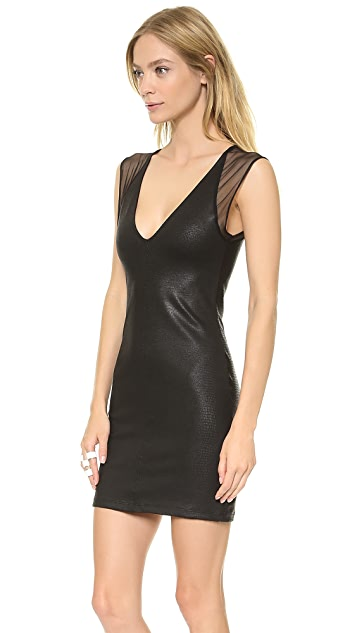 David Lerner David Lerner x Maleficent Coated Lizard Mini Dress