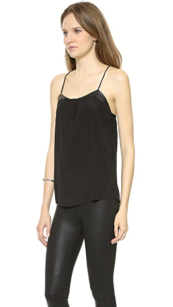 David Lerner David Lerner x Maleficent Leather Detail Cami