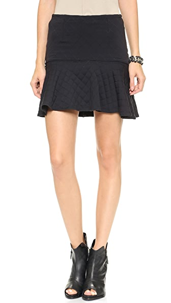 David Lerner Quilted Flounce Skirt