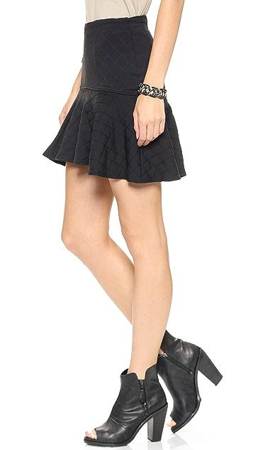 David Lerner Quilted Flounce Skirt