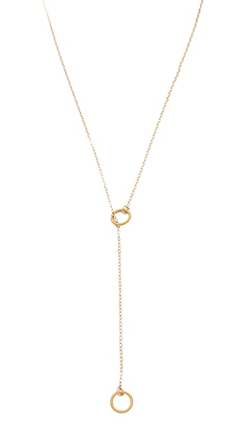 Dogeared Karma Double Circle Adjustable Lariat Necklace