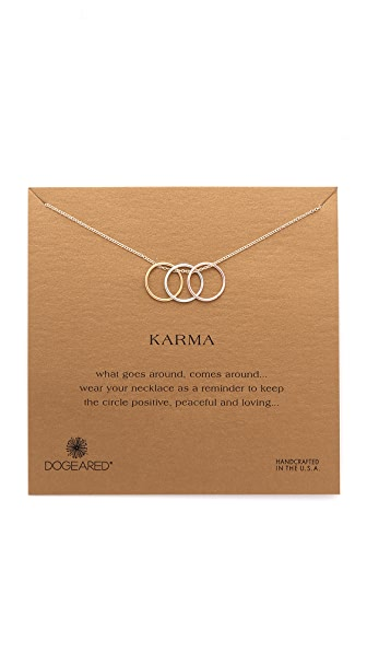 Dogeared Triple Karma Ring Necklace