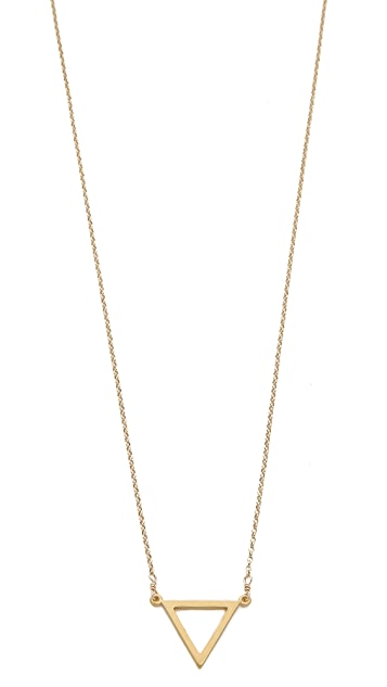 Dogeared Balance Triangle Necklace