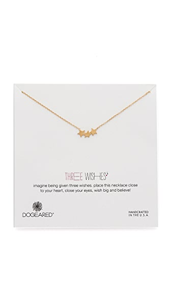 Dogeared Three Wishes Triple Star Necklace