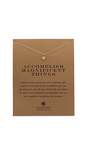 Dogeared Accomplish Magnificent Things Charm Necklace
