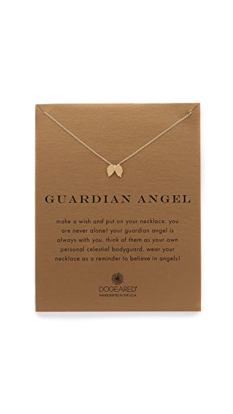 Dogeared Guardian Angel Charm Necklace