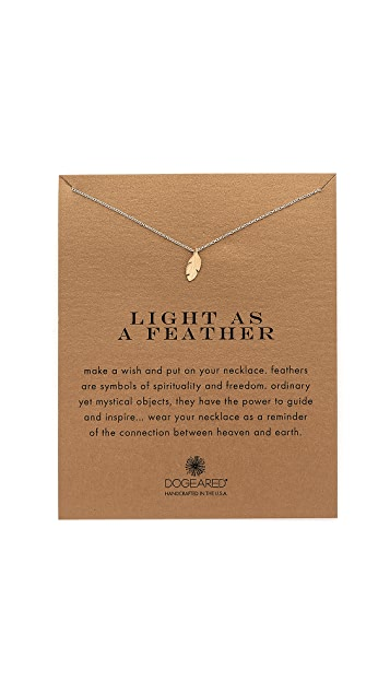 Dogeared Light As a Feather Charm Necklace