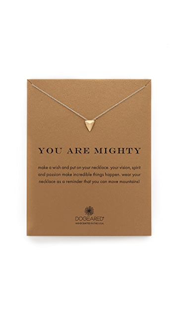 Dogeared You Are Mighty Charm Necklace