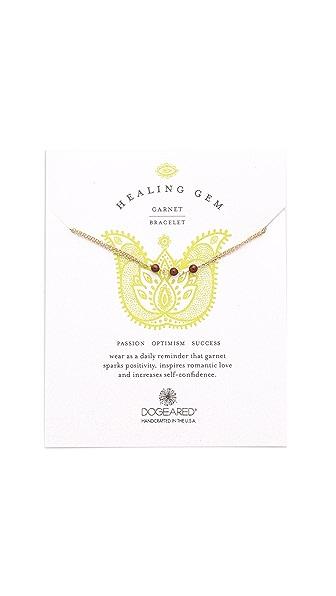 Dogeared Healing Gem Garnet Bracelet