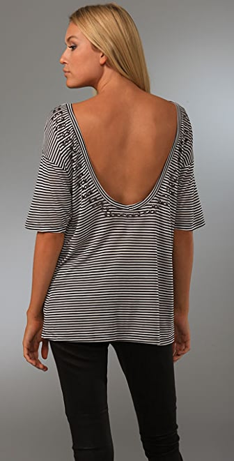 Dolan Left Coast Stripe Low Back Tee