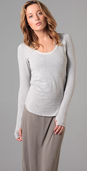 Dolan Long Sleeve Scoop Top