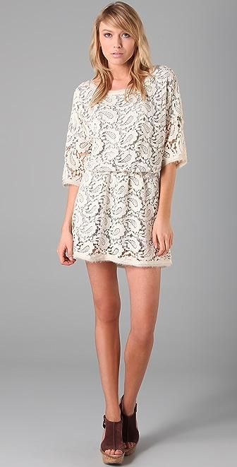 Dolan Paisley Crochet Dress