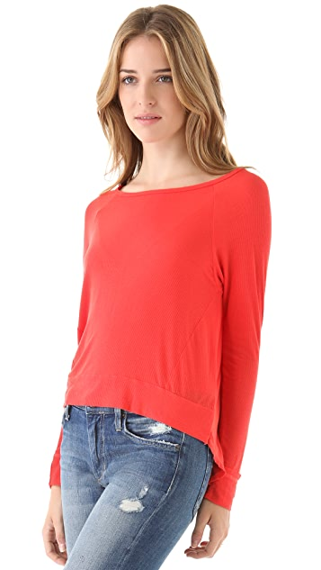 Dolan Raglan Hi-Low Long Sleeve Top