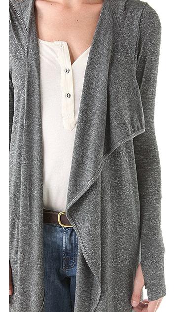 Dolan Asymmetrical Hooded Maxi Cardigan