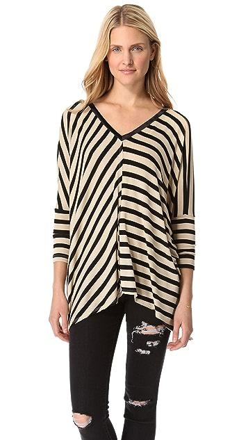 Dolan Oversized Roxy Square Stripe Sweater