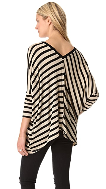 Dolan Oversized Roxy Square Stripe Sweater