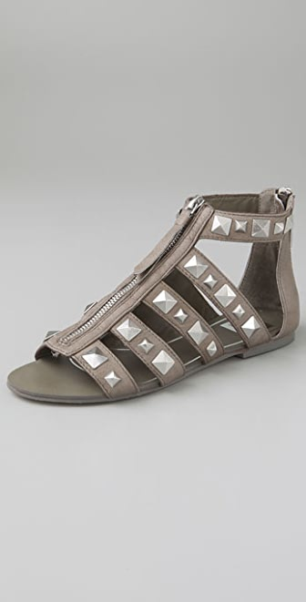 Dolce Vita Neve Zip Front Sandals with Studs