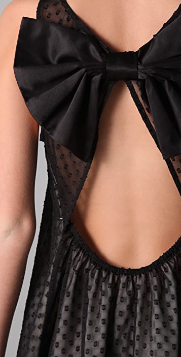 Dolce Vita Cameo Bow Back Swiss Dot Dress