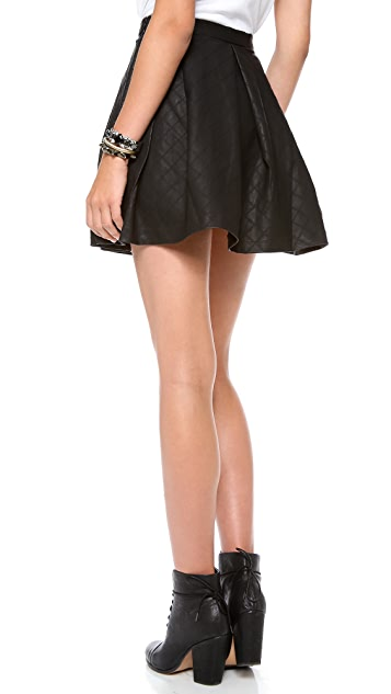 Dolce Vita Mairin Faux Leather Skirt