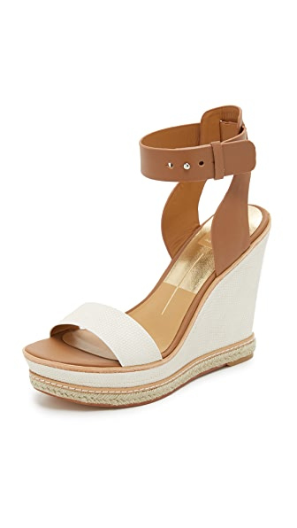 Dolce Vita Heath Wedge Sandals - White at Shopbop