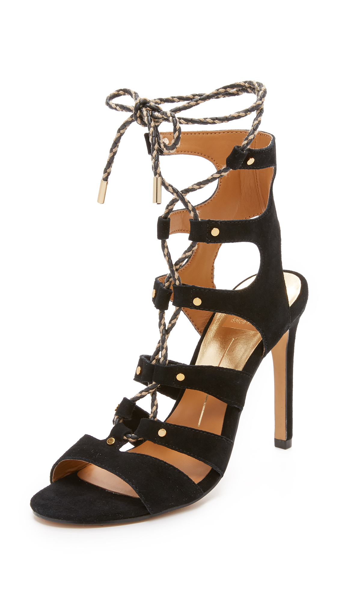 Dolce Vita Howie Lace Up Sandals - Black at Shopbop