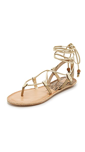 Dolce Vita Karma Flat Sandals - Gold at Shopbop