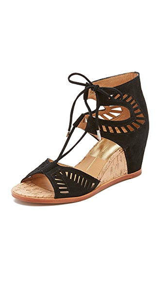 Dolce Vita Linsey Embossed Wedges - Black at Shopbop