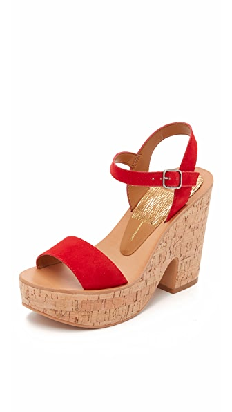Dolce Vita Randi Wedge Sandals - Red