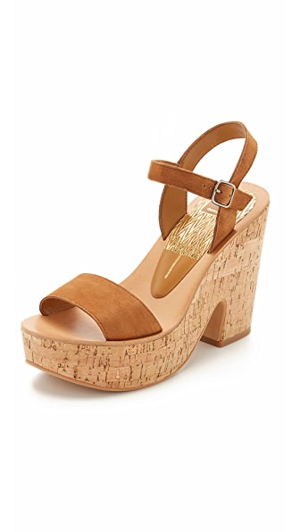 Dolce Vita Randi Wedge Sandals - Dk Saddle at Shopbop