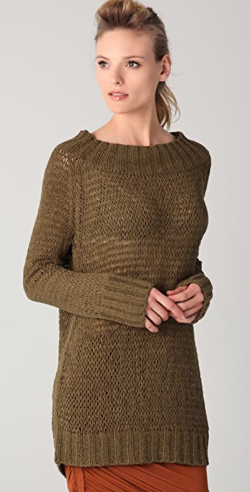 Donna Karan Casual Luxe Long Sleeve Slouchy Sweater