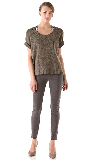 Donna Karan Casual Luxe Second Skin Seamed Pants