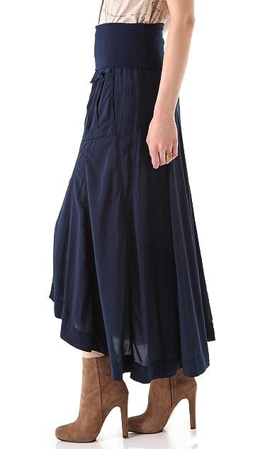 Donna Karan Casual Luxe Button Front Maxi Skirt