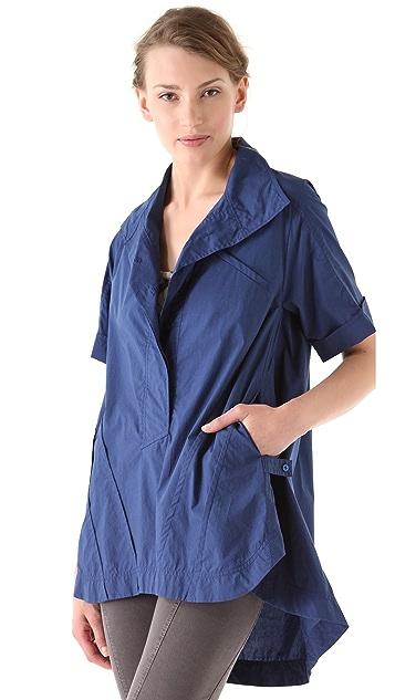 Donna Karan Casual Luxe Roll Sleeve Oversized Tunic
