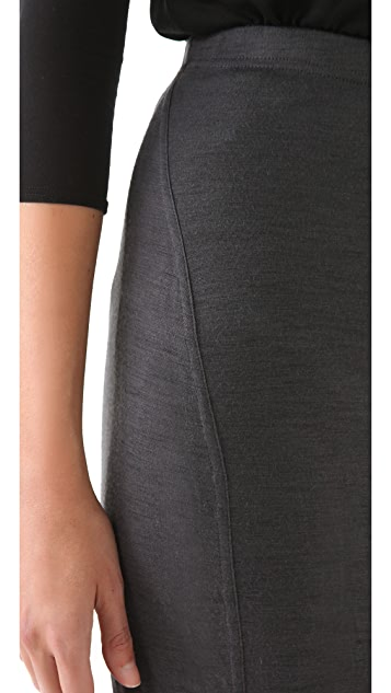 Donna Karan Casual Luxe Two Tone Skirt