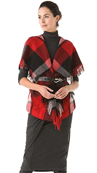 Donna Karan Casual Luxe Fringe Vest