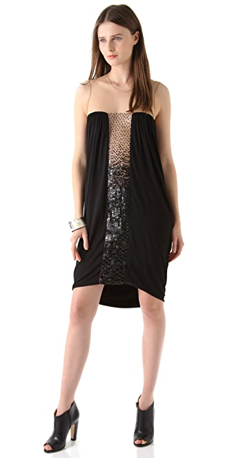 Doo.Ri Ombre Sequined Dress with Sheer Top