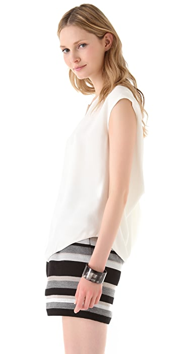 Doo.Ri Split V Top with Draped Back