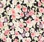 Black/Pink Floral Print