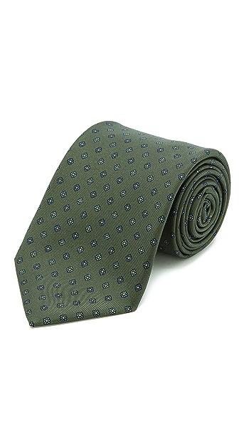 Drake's Floral Print Silk Tie