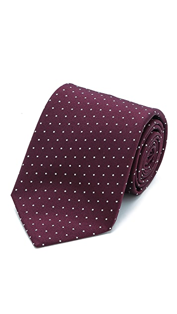 Drake's Dotted Woven Tie