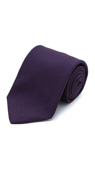 Drake's Microdot Woven Tie