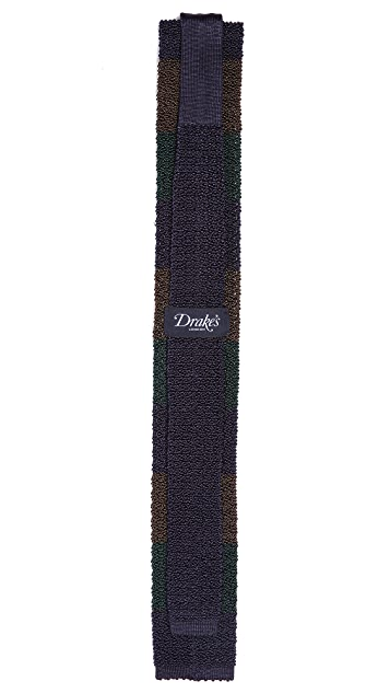Drake's Colorblock Knit Tie
