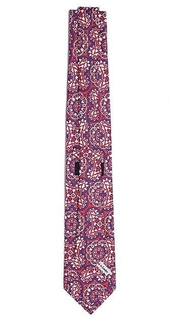 Drake's Medallion Silk Tie